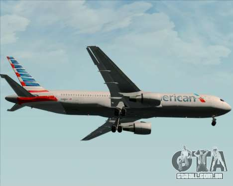 Boeing 767-323ER American Airlines para vista lateral GTA San Andreas