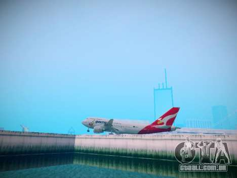 Boeing 747-438 Qantas Boxing Kangaroo para GTA San Andreas vista traseira
