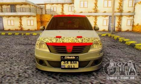 Dacia Logan Turkey Tuning para GTA San Andreas vista traseira