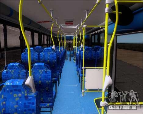 Caio Induscar Apache S21 Volksbus 17-210 Manaus para GTA San Andreas vista interior