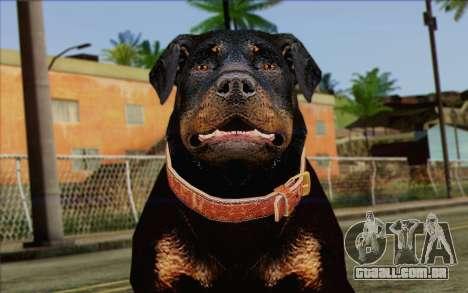 Rottweiler from GTA 5 Skin 3 para GTA San Andreas terceira tela