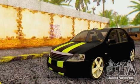 Dacia Logan Black Style para GTA San Andreas