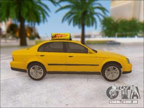 Chevrolet Evanda Taxi para GTA San Andreas vista interior