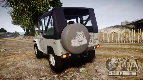 Toyota FJ40 Land Cruiser Soft Top 1978 para GTA 4 traseira esquerda vista