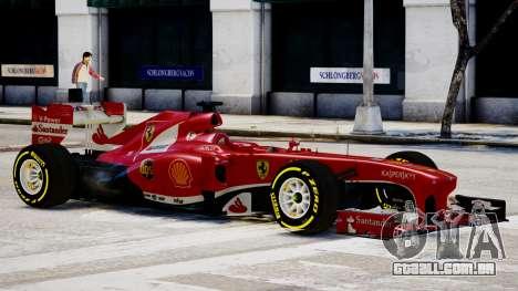 Ferrari F138 v2 para GTA 4 traseira esquerda vista