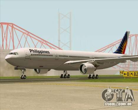 Airbus A330-300 Philippine Airlines para GTA San Andreas traseira esquerda vista