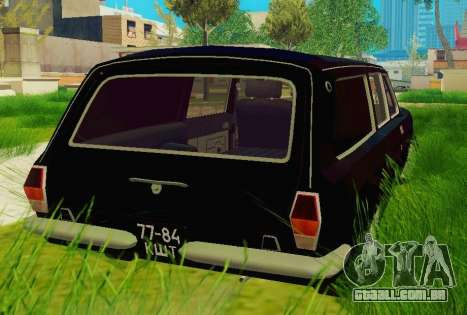 GÁS-24-12 carro funerário para GTA San Andreas traseira esquerda vista