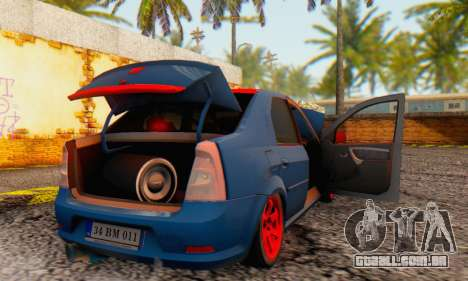 Dacia Logan Turkey Tuning para GTA San Andreas vista inferior
