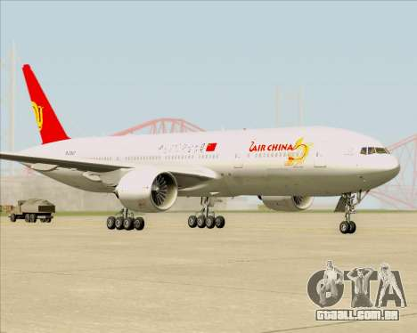 Boeing 777-200ER Air China para GTA San Andreas esquerda vista