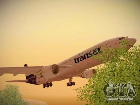 Airbus A330-200 Air Transat para GTA San Andreas vista inferior