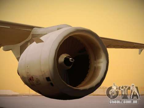 Airbus A320-214 LAN Airlines 80 Years para GTA San Andreas vista inferior