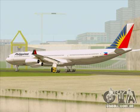 Airbus A340-313 Philippine Airlines para GTA San Andreas vista direita