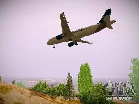 Airbus A320-211 Aigle Azur para GTA San Andreas vista interior