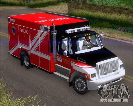 Pierce Commercial TFD Rescue 1 para GTA San Andreas esquerda vista