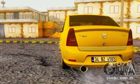 Dacia Logan Delta Garage para GTA San Andreas traseira esquerda vista