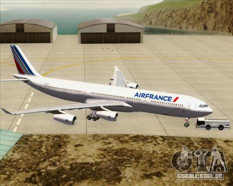 Airbus A340-313 Air France (New Livery) para GTA San Andreas vista inferior