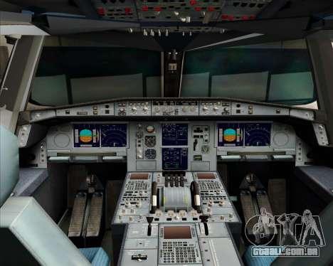 Airbus A380-841 Qantas para GTA San Andreas vista superior