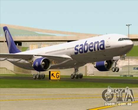 Airbus A330-300 Sabena para GTA San Andreas esquerda vista
