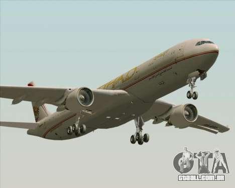 Airbus A330-300 Etihad Airways para GTA San Andreas vista inferior