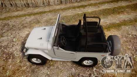 Toyota FJ40 Land Cruiser Soft Top 1978 para GTA 4 vista direita