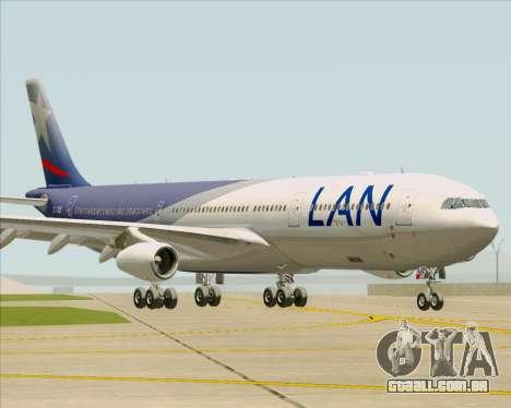 Airbus A340-313 LAN Airlines para GTA San Andreas esquerda vista