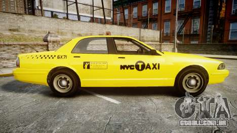 GTA V Vapid Taxi NYC para GTA 4 esquerda vista