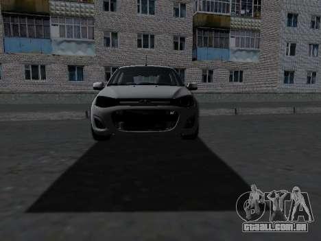 Lada Kalina 2 para GTA San Andreas vista interior