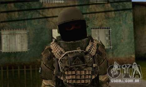 Task Force 141 (CoD: MW 2) Skin 9 para GTA San Andreas terceira tela
