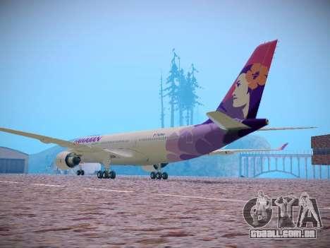 Airbus A330-200 Hawaiian Airlines para GTA San Andreas vista traseira