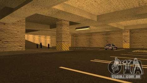 Novas texturas parque de Estacionamento da LSPD para GTA San Andreas sexta tela