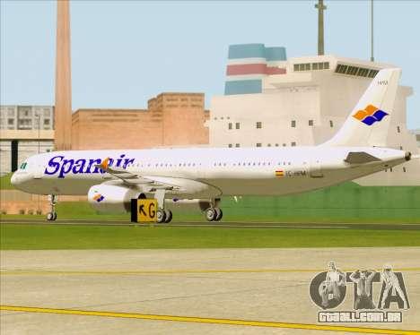 Airbus A321-231 Spanair para GTA San Andreas vista interior