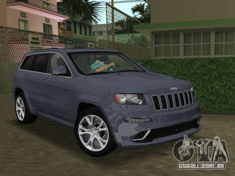 Jeep Grand Cherokee SRT-8 (WK2) 2012 para GTA Vice City vista interior