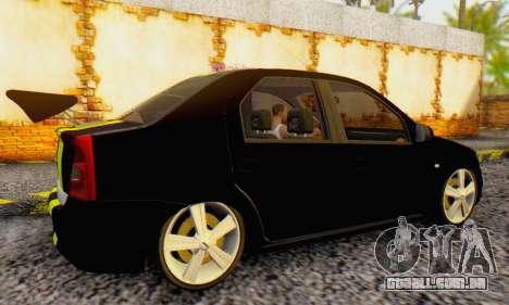 Dacia Logan Black Style para GTA San Andreas vista direita