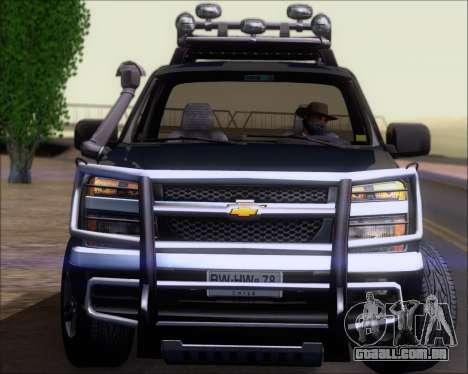 Chevrolet Colorado para GTA San Andreas interior