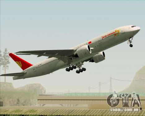 Boeing 777-200ER Air China para vista lateral GTA San Andreas