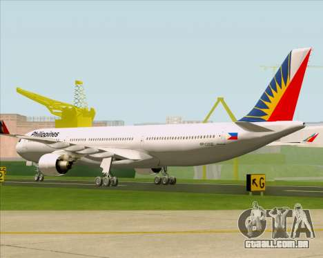 Airbus A330-300 Philippine Airlines para GTA San Andreas vista direita