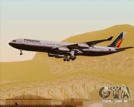 Airbus A340-313 Philippine Airlines para GTA San Andreas vista inferior