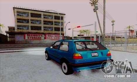 Volkswagen Golf 2 GTi para GTA San Andreas esquerda vista