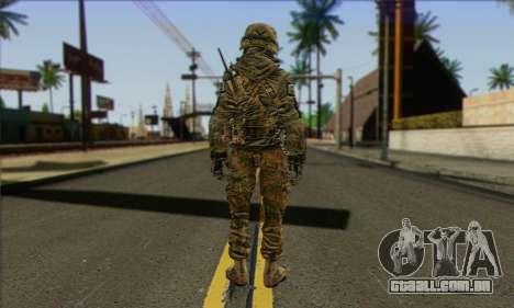 Task Force 141 (CoD: MW 2) Skin 11 para GTA San Andreas segunda tela