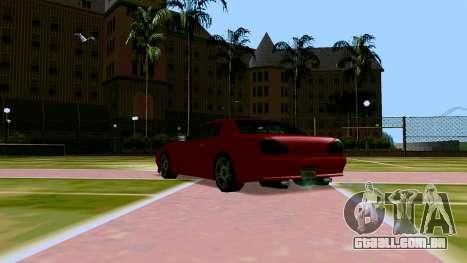 Elegy OnDrift para GTA San Andreas vista traseira