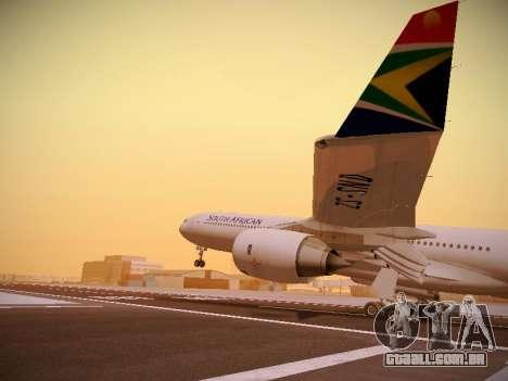 Airbus A340-600 South African Airways para GTA San Andreas vista inferior