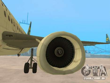 Boeing 737-84R Ukraine International Airlines para GTA San Andreas vista inferior