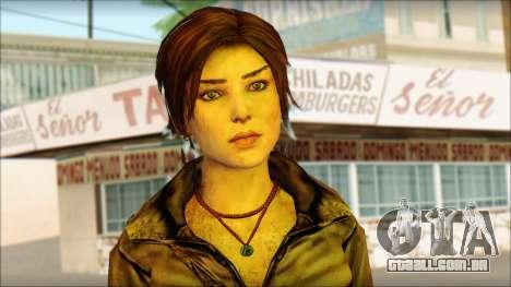 Tomb Raider Skin 6 2013 para GTA San Andreas terceira tela