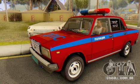 VAZ 2107 Polícia para GTA San Andreas