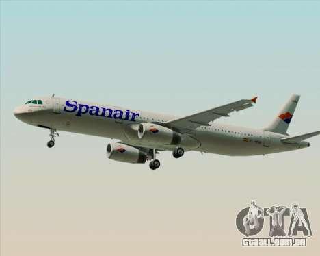 Airbus A321-231 Spanair para GTA San Andreas traseira esquerda vista
