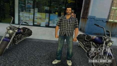 Kockas polo - szurke T-Shirt para GTA Vice City
