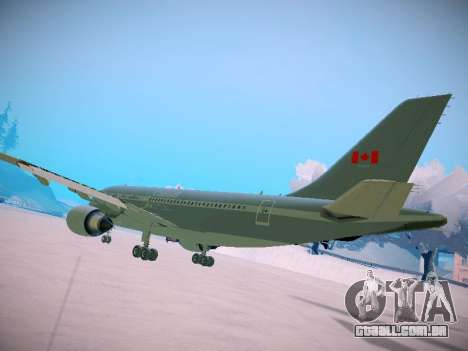 Canadian Forces Airbus CC150 Polaris para GTA San Andreas vista direita