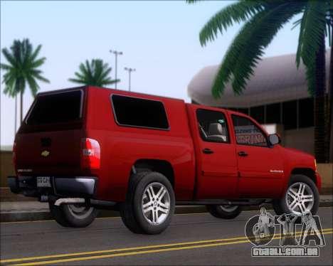 Chevrolet Silverado 2011 para GTA San Andreas vista direita