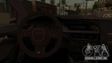 Audi S5 2007 para GTA San Andreas traseira esquerda vista