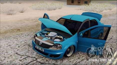Dacia Logan BS GARAGE para GTA San Andreas traseira esquerda vista